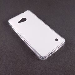 Funda Gel Microsoft Lumia 550 Alta Calidad TPU Blanco Blanca Mate